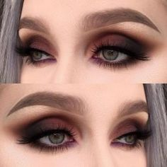 A smokey eye is one of the most classic makeup looks. At one time, women generally reserved their smokey eye looks for special occasions. However, smokey eyes are now an extremely popular eye makeup l Skin Makeup, Eyeshadow Makeup, Beauty Makeup, Eyeliner, Yellow Eyeshadow, Burgundy Eyeshadow, Eyeshadow Palette, Makeup Monolid, Makeup Trends