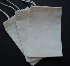 30 LARGE Cotton Muslin Bags // 8x16 9x12 // by Atelieremmarose