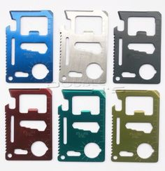 1pcs 11 in 1 Emergency Outdoor Multi Tool Army Marine Military Hunting Survival Kit Pocket Credit Card Knife