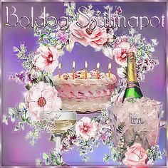 Happy Birthday Photos, Birthday Name, Holiday Images, Name Day, Beautiful Roses, Akira, Animals And Pets, Painting, Happy Birth Day