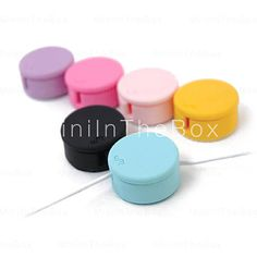 Rubber Cable Winder (Assorted Colors) $2.29