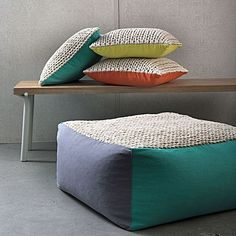 Maddox Floor Cushion Cover by KAS ROOM