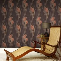 Peace Floral Wallpaper - Orange Flower Wall Coverings by Graham  Brown
