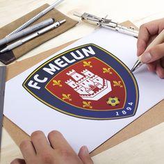 Creation Logo FC MELUN – Club Football Melun Club Football, Nouveau Logo, Graphic Design Studio, Football Design, Logos, Creations, Logo Creation, A Logo