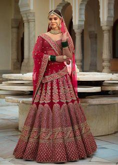 Rose pink Banarasi lehenga