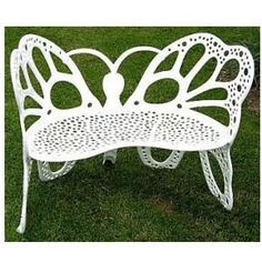 $476.00 (CLICK IMAGE TWICE FOR UPDATED PRICING AND INFO)  Patio Furniture - Butterfly Bench White - FHBFB06W - See More Butterfly Chairs at http://www.zbuys.com/level.php?node=3925=butterfly-chairs