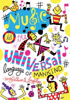 """""""Music is the universal language of mankind."""" Henry Wadsworth Longfellow #quote #inspiration #music #poster #classroomdecor Music Activities For Kids, Music For Kids, Henry Wadsworth Longfellow, Music Illustration, Boxing Quotes, Classroom Supplies, Classroom Decor, Class Decoration, Sister Quotes"""