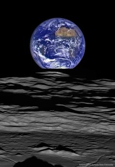 "New ""Earthrise"" photo from NASA. One of the most — if not the most — famous images taken in space is ""Earthrise,"" a photo of the Earth taken by the Apollo 8 crew as they rounded the back side of the Moon. Today, NASA has released. Earth And Space, Nasa Photos, Nasa Images, Cosmos, Astronomy Science, Science Art, Earth Science, Engineering Science, Spirit Science"