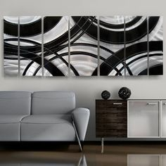 """""""Crossroads"""" Modern Metal Wall Sculpture, Contemporary Home Decor by Statements2000 Fine Metal Art by Jon Allen. $325.00. Overall Artwork Dimensions: 68"""" x 24"""" x 2"""" (Display size shown, mounted with 1"""" spaces in between each panel). The complete work of art consists of seven individual panels, each ranging between 6"""" and 12"""" wide.. High Quality, Durable Metal Sculpture, Hand made with precision and detail in the USA!. Signed and Dated by the artist: Jon Allen (includes, certifica..."""