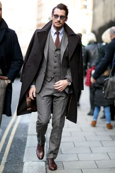 David Gandy - London Fashion Week AW15 streetstyle                                                                                                                                                                                 More