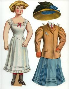 Paper doll appeared in the Dec. 29, 1907 New York Herald