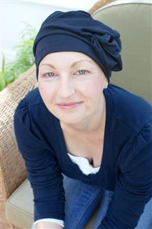 Fashionable urban turban for womens hair loss or very stylish chemo hat for cancer patients. Whatever the reason for your hair loss this soft jersey cap will help you look good all day.