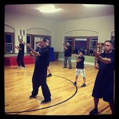 Wing Chun Class doing the Sil Lum Tao Form in New York www.wing-chun.net