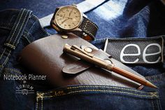"""Things that i love: - """"SONIUM LETALER"""" Notebook Cover - Perfect Pencil by """"GRAF VON FABER CASTELL"""" - Pilot Watch from """"JUNKERS"""" Mod. Cockpit JU52 - Selvedge Raw Jeans by """"LEE"""" Mod. 101S  Perfect peaces to use with """"SONIUM LEATHER"""" products.  Design for Generations. SONIUM LEATHER Proudly handmade in Portugal Connecting Generations"""