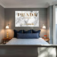 Marfa 1837 Canvas Print - prada sign as seen in gossip girl. Sold out everywhere!
