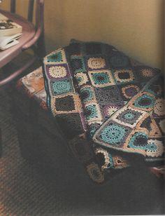 Ravelry: Patchwork Motif Blanket pattern by Erika Knight 꼭 배경색같지않아도 예쁘겠다
