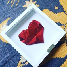 Every Origami Heart is designed and hand folded by myself ❤️ #origami #heart #ruby #paper #love #red #paperart #art #mirror #wedding #anniversary #gift #present #handmade #madewithlove #homedecor #interior #modern #craft #art #etsy #etsyuk #etsyusa