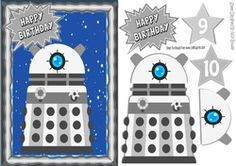 Silver Dalek  with stars in the sky A5 on Craftsuprint - View Now!