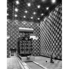 Technician carrying a microphone in an anechoic test chamber Power Transformer Department General Electric Pittsfield Massachusetts USA Canvas Art - (24 x 36)