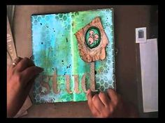 ▶ 'Studio time'... art journaling - YouTube. Great to follow the creative proces of France Papillon!