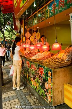 Build some bowls/dispensers for nuts/grains into cabinetry for happy snacking Beijing, Shanghai, World Food Market, Chongqing China, Chinese Market, Expo Milano 2015, Myanmar Travel, World Street, Traditional Market