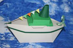 """""""Auf hoher See..."""": Geschenkschachtel als Kreuzfahrtdampfer (auch als Segelboot erhältlich)"""