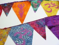 prayer flags - in my garden, in the house, sent to friends ~ ♥ prayer flags!!!
