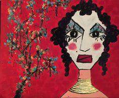 la regina dragone - babymarcelo 2016 acrylic  & oil on canvas