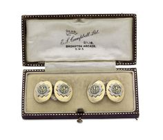 A pair of Scots Guards 2nd Battalion cufflinks