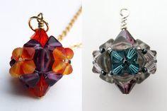 Wild roses and blackberries: Beaded bead pendant tutorial