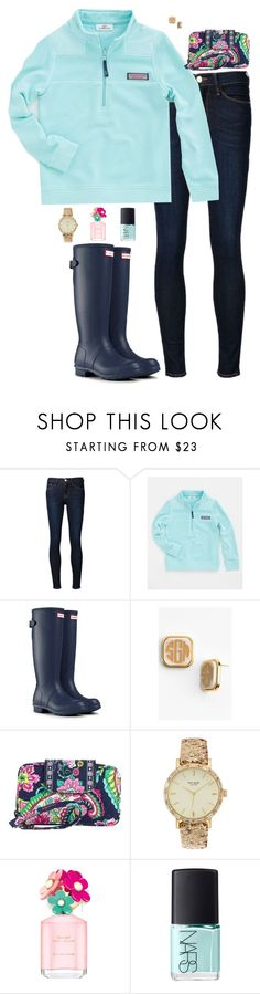 """Hallo from the other side-Adele"" by sc-prep-girl ❤ liked on Polyvore featuring Frame Denim, Vineyard Vines, Hunter, Moon and Lola, Vera Bradley, Kate Spade, Marc Jacobs and NARS Cosmetics"