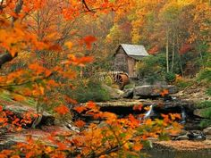 Glade Creek Grist Mill Photographic Print by Ron Watts at AllPosters.com
