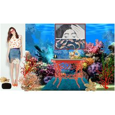 AQUARIUM by alvufashionstyle on Polyvore featuring arte