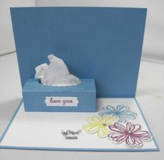 Flower Shop Get Well Card Video UdderlyAwesome Stamping From The Heart: Blumenladen Gute Besserung Card Video Source by . Fun Fold Cards, 3d Cards, Cool Cards, Folded Cards, Cricut Cards, Stampin Up Cards, Kirigami, Pop Up Box Cards, Homemade Cards