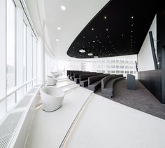 AUDITORIUM- Eneco Headquarters in Rotterdam by Hofman Dujardin Architects and Fokkema Commercial Interior Design, Interior Design Companies, Office Interior Design, Commercial Interiors, Espace Design, H Design, Wall Design, Corporate Interiors, Office Interiors
