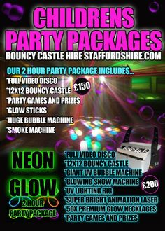 CHILDREN'S PARTY PACKAGE WITH DISCO AND BOUNCY CASTLE in Stafford, Burton and Tamworth - Children's Entertainers
