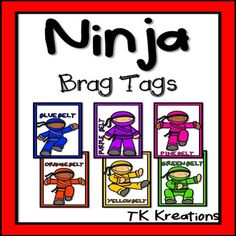 These set of ninja brag tags can be used for different purposes in your classroom. Some suggestions are:Reaching milestones: *Reading levels,*reading fluency, *math fluency,* learning sight words*letter sounds*behavior management***Black lines are also included for printing on color paper, for students to color, or simply to save on ink!Belt colors included:yellow, orange, green, blue, purple, pink, red, blackIf you like these then check out my other brag tags:Homework Brag TagsBrag Tags…