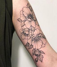 Pretty Tattoos, Love Tattoos, Beautiful Tattoos, Small Tattoos, Dogwood Flower Tattoos, Peonies Tattoo, Future Tattoos, Arm Tattoo, Tattoo Inspiration