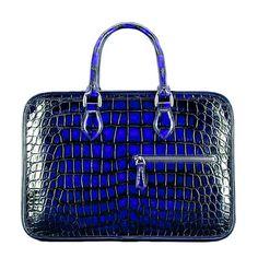 Alligator Briefcase Crossbody Laptop Business Bag for Men Lawyer Briefcase, Briefcases, Laptop Bags, Leather Bags, Crocodile, Shoulder Strap, Business, Leather Tote Handbags, Crocodiles
