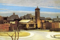 Edward Hopper  November, Washington Square | c. 1932-1959. Oil on canvas. 86,7 x 127,6 cm. Santa Barbara Museum of Art, Santa Barbara.