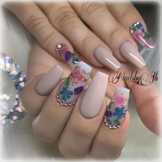 Make an original manicure for Valentine's Day - My Nails Summer Acrylic Nails, Best Acrylic Nails, Swag Nails, My Nails, Nail Art Designs, Acrylic Nail Designs, Ballerina Nails, Instagram Nails, Luxury Nails