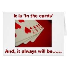 IN THE CARDS-YOU AND ME FOR ETERNITY LOVE CARD - married gifts wedding anniversary marriage party diy cyo
