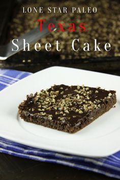 Paleo Texas Sheet Cake by Lone Star Paleo ~ Easy cake made & baled in 1 container, #party #cake #dessert #paleo #recipe