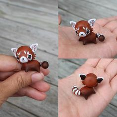 This is a very special mini red panda that has been carefully sculpted and painted to fit right in your hand. It has warm gold flecked eyes and its tongue is poking out for extra cheekiness :) It will come glazed and carefully packaged! -This little cutie is approximately 3x3 cm in size! ❤❤❤ Follow me on Instagram for news, updates & follower goodies: http://instagram.com/thelittlemew Have a WONDERFUL day