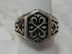 Solid Sterling Silver Signet Ring by MadJacksJewelry on Etsy