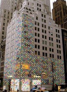 Louis Vuitton 5th Avenue Store Design by Takashi Murakami #wallcandy