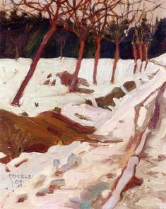 Snow, 1908. Egon Schiele