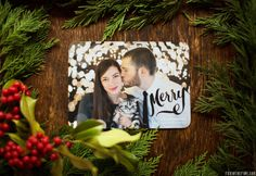Beautiful couple's holiday card! 'All That is Bright' holiday card found at Tiny Prints.