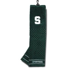 Team Golf Ncaa Michigan State Embroidered Golf Towel, Green