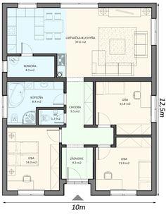 Ideas home design plans cottages Home Room Design, Small House Design, Bungalow House Design, Home Design Plans, Modern House Design, Dream House Plans, Modern House Plans, Small House Plans, House Floor Plans